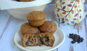 Homemade Raisin Banana Muffins