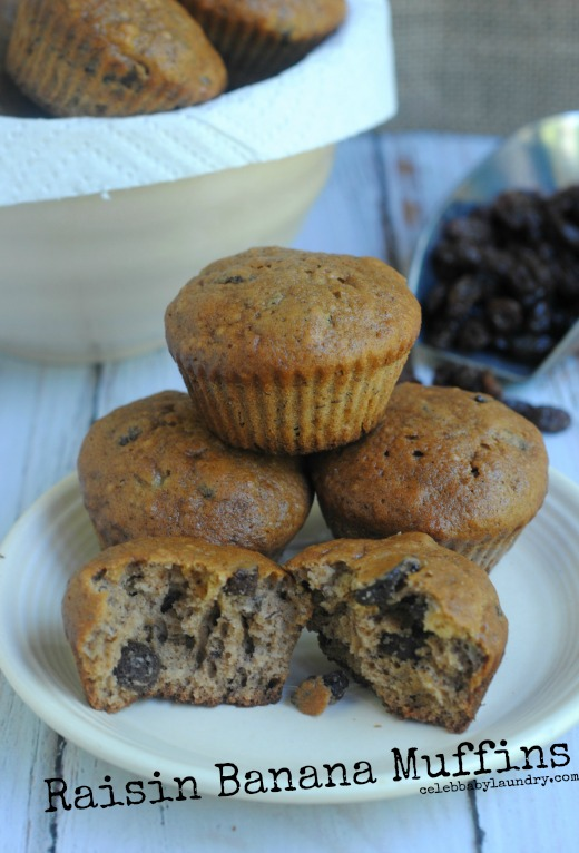 Get Ready For Cooler Weather With Raisin Banana Muffins #Recipe