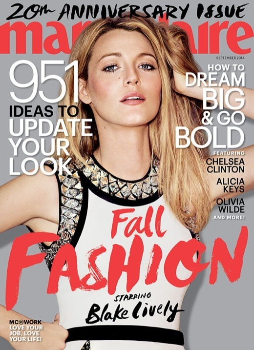 Blake Lively Covers Marie Claire