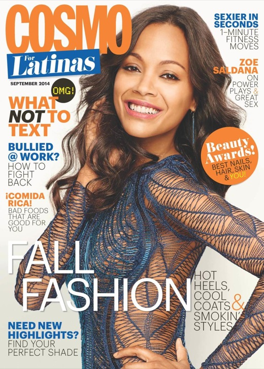 Zoe Saldana: My Children Will Learn Multiple Languages