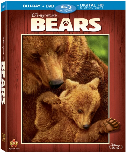 Disneynature's Bears Blu Ray & DVD