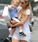 Elizabeth Berkley Shopping With Her Son In Brentwood