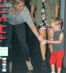 Hilary Duff Takes Luca Out For Dinner