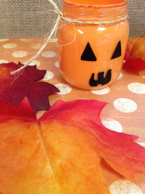 Halloween Craft: Pumpkin Votive Holder