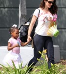 Kristin Davis & Daughter Gemma Leaving A Ballet Class