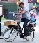 Liev Schreiber & His Boys Ride Around NYC