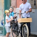 Liev Schreiber Takes His Boys For a Bike Ride