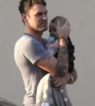 Exclusive... Megan Fox & Brian Austin Green Take Their Sons To Dinner