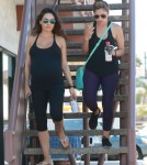 Semi-Exclusive... Very Pregnant Mila Kunis Leaving A Yoga Class