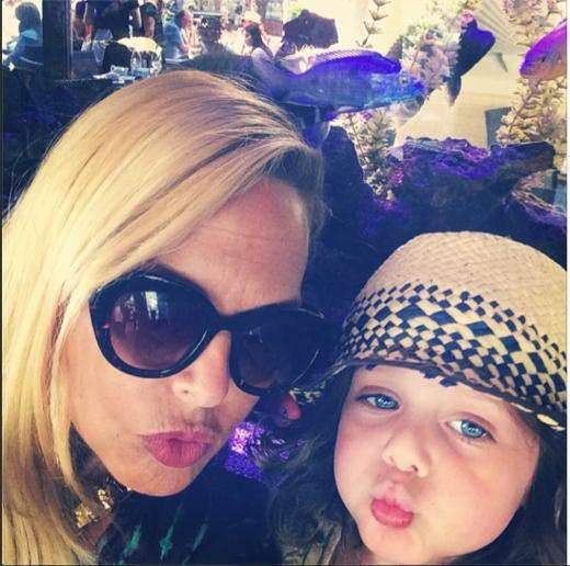 Rachel Zoe & Skyler Make Funny Fish Lips