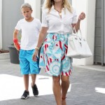 Reese Witherspoon & Deacon Visit her Office
