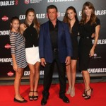 Sylvester Stallone Takes his Family to the Expendables 3 Paris Premiere