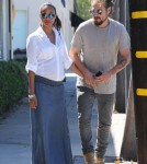 Pregnant Zoe Saldana Out With Her Husband