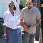 Pregnant Zoe Saldana Lunches With Husband