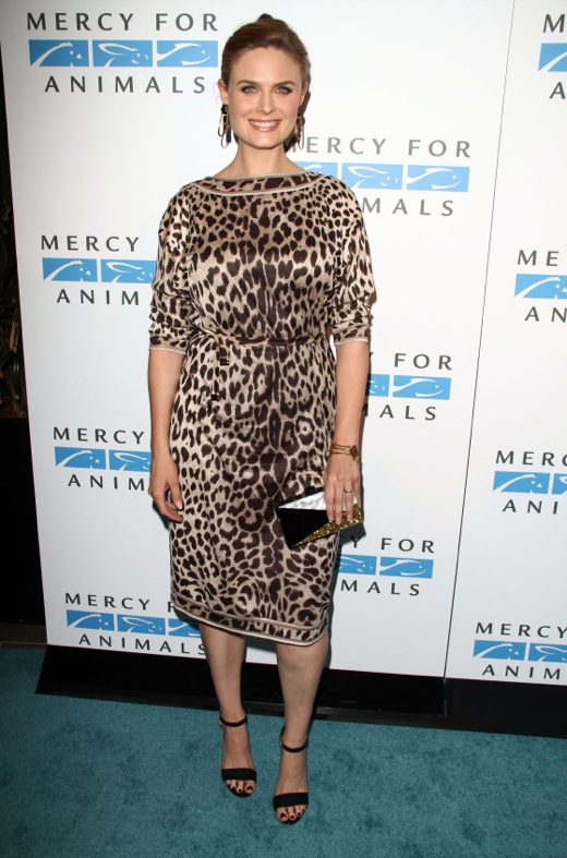 Emily Deschanel at The Mercy For Animals 15th Anniversary Gala in LA