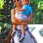 Alessandra Ambrosio Stops By The Country Mart With Noah
