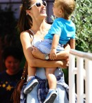 Alessandra Ambrosio Visits The Brentwood Country Mart