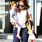 Alyson Hannigan Runs Errands With Her Daughters