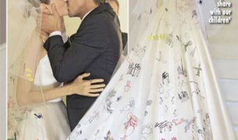 Angelina Jolie's Children Helped Design her Veil & Wedding Dress