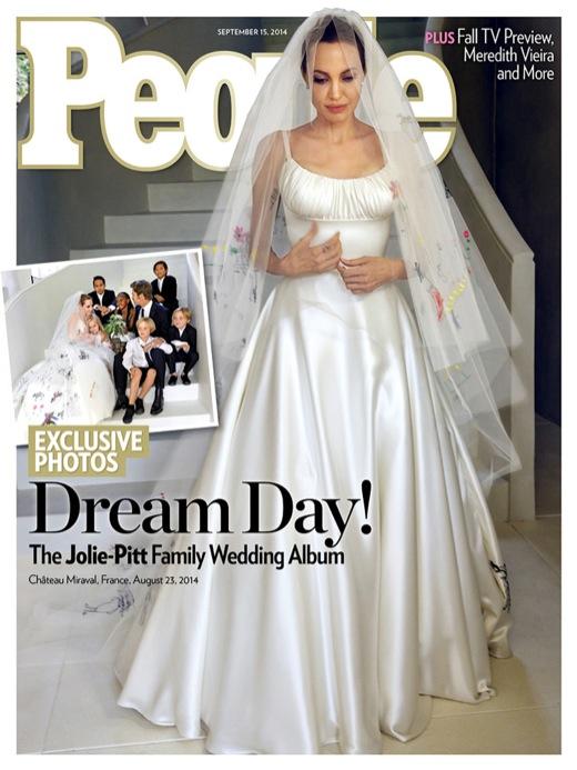 Angelina Jolie and Brad Pitt Wedding Pictures