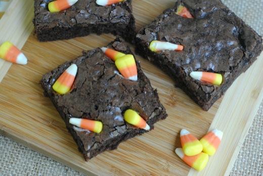 Candy Corn Brownie