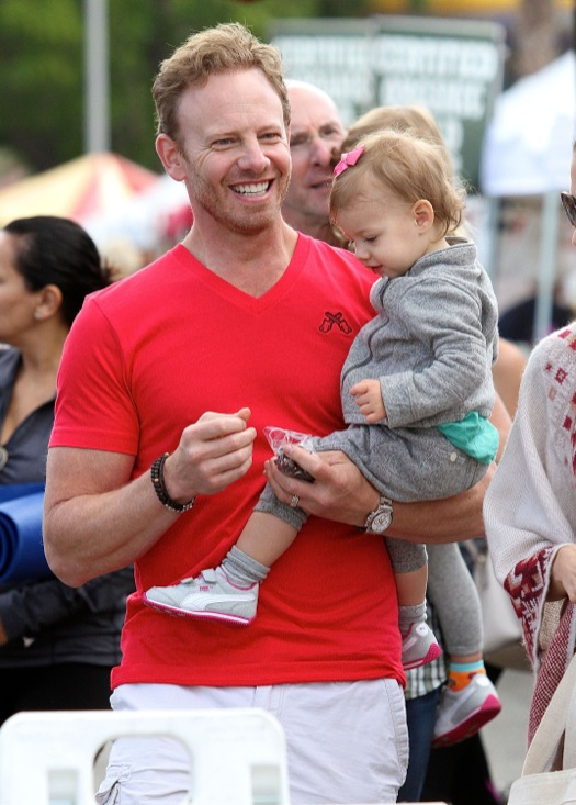 Ian Ziering & Family At The Farmer's Market