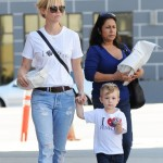 January Jones Spotted Out With Xander After Returning Home From Venice