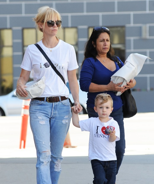 January Jones Out And About In Calabasas With Her Son