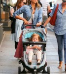 Jessica Alba Taking Her Girls For A Walk Around NYC