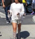Pregnant Kourtney Kardashian Leaving A Studio