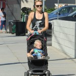 Malin Akerman Takes a Stroll With Sebastian