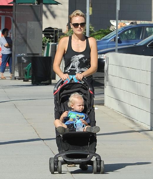 Malin Akerman Takes Sebastian For A Walk