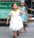 Matthew Broderick Walks His Daughters To School
