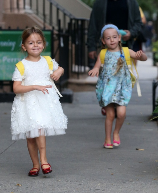 Matthew Broderick Takes His Girls To School