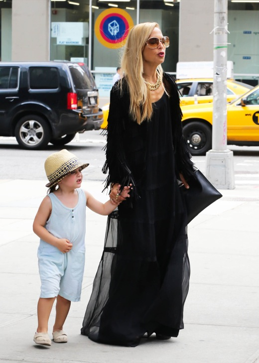 Rachel Zoe Out And About In NYC With Her Son