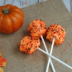 Last Minute Halloween Marshmallow Pops #Recipe