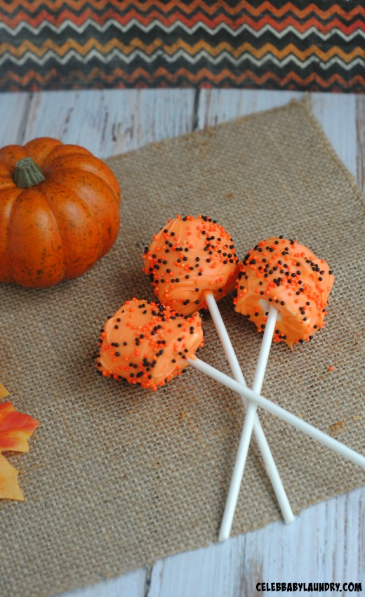 Orange Halloween Marshmallow Pops