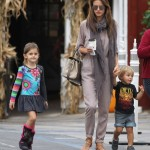Alessandra Ambrosio Visits The Country Mart