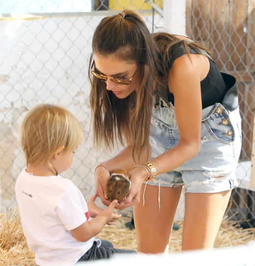 Alessandra Ambrosio Takes Noah To Mr. Bones Pumpkin Patch