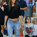 Alessandra Ambrosio: Pumpkin Patch Mommy