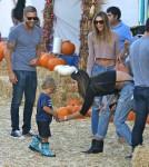 Alessandra Ambrosio & Family At Mr. Bones Pumpkin Patch