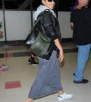 Pregnant Alicia Keys Lands At LAX Airport
