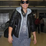 Pregnant Alicia Keys Is All Smiles at LAX