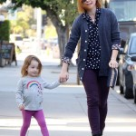 Alyson Hannigan & Keeva Enjoy Thursday Breakfast