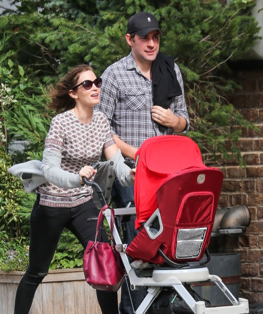 Exclusive... Emily Blunt & John Krasinski Out For A Stroll With Daughter Hazel