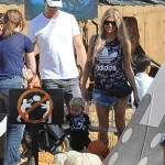 Fergie & Josh Duhamel Take Axl Shopping For a Pumpkin