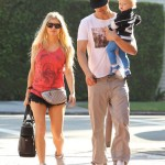 Fergie & Josh Duhamel Take Axl to a Gym Class