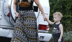 Exclusive... Hilary Duff Takes Luca Out For Lunch
