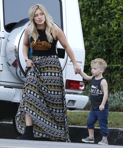 Hilary Duff Takes Luca to Lunch