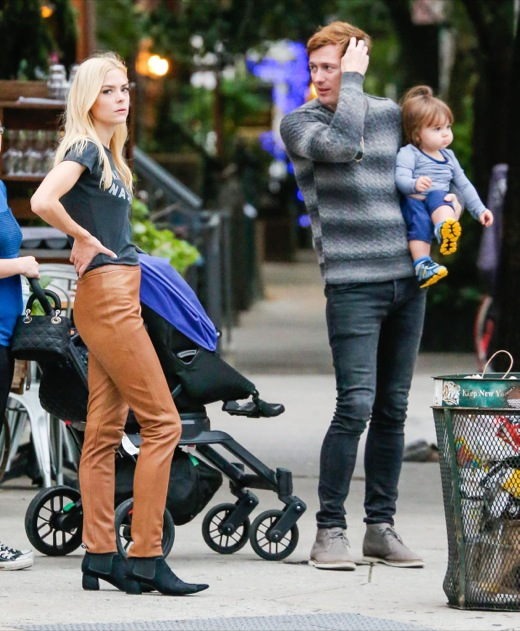 Jaime King & Family Take a Stroll in New York City